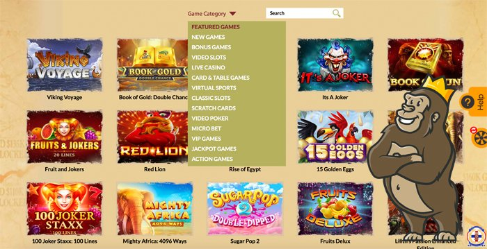 OrientXpress Casino games and categories
