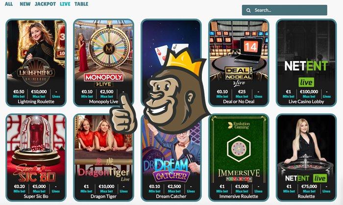 Cashmio casino live games