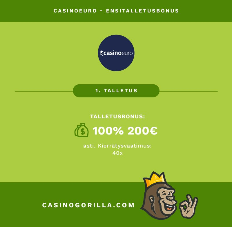 Casinoeuro talletusbonus