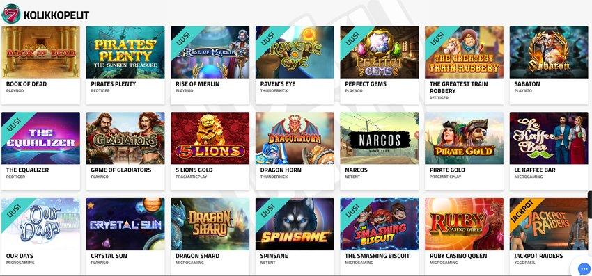 LuckyDino -kasinon pelejä