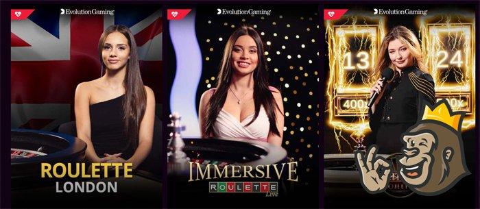 LVbet Casino live game selection