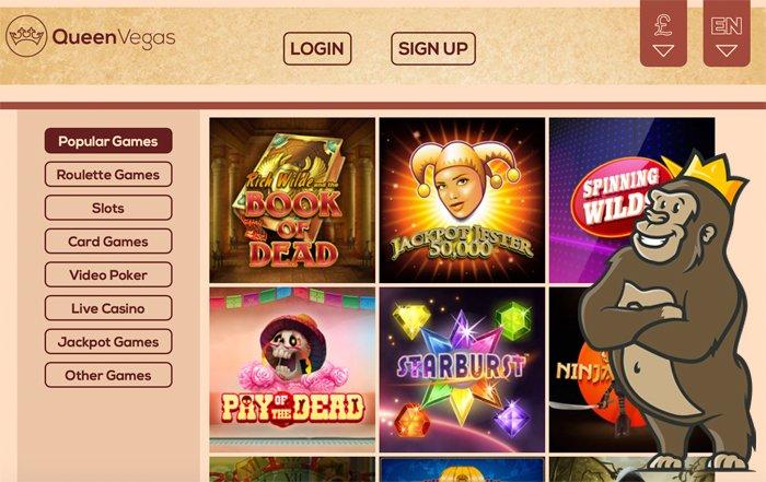 Queen Vegas casino slot games