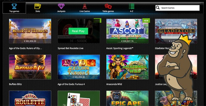 Slots Heaven casino game selection and categories