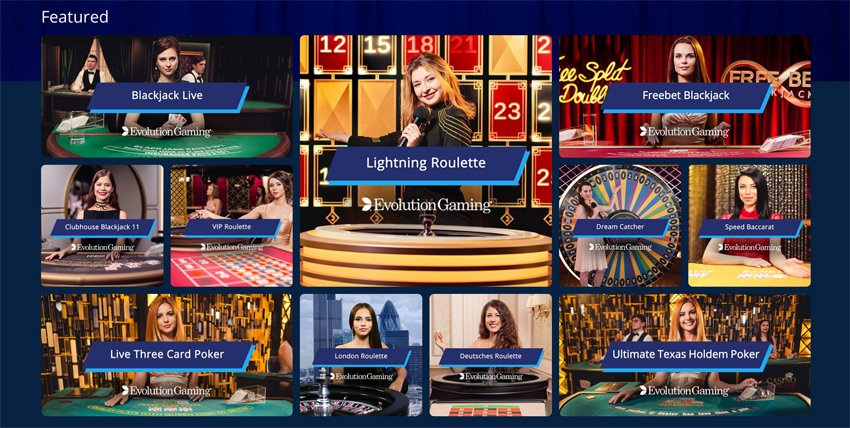 Sportingbet casino live game selection