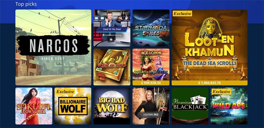 Sportingbet casino slot games