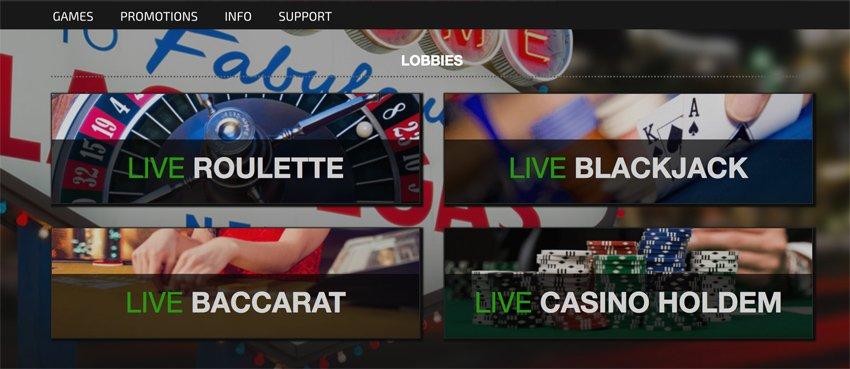 Trada casino live casino games