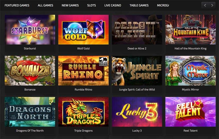 Trada casino slot games and categories