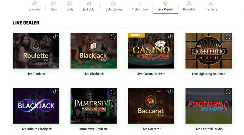 Lottoland casino live games