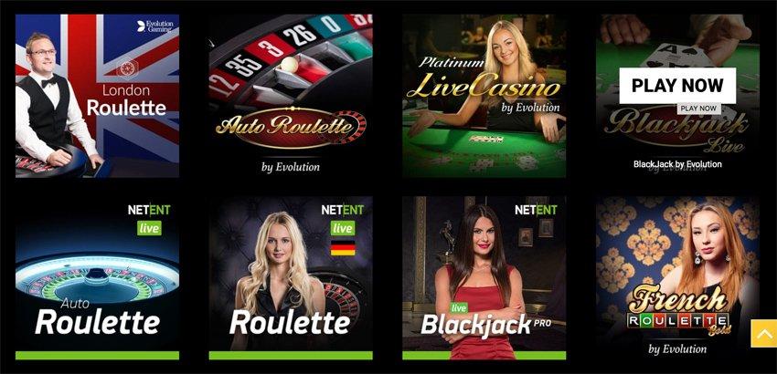 Mega Casino live games