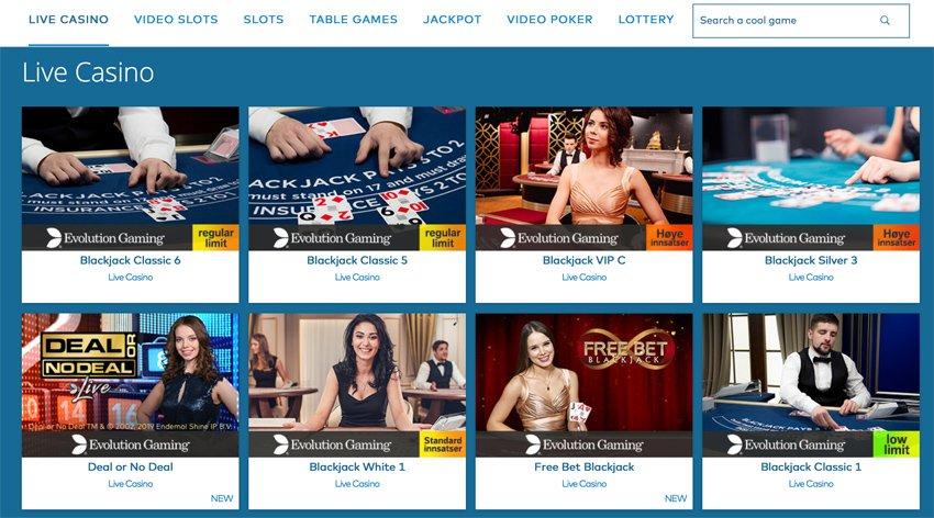 Yeti casino live games