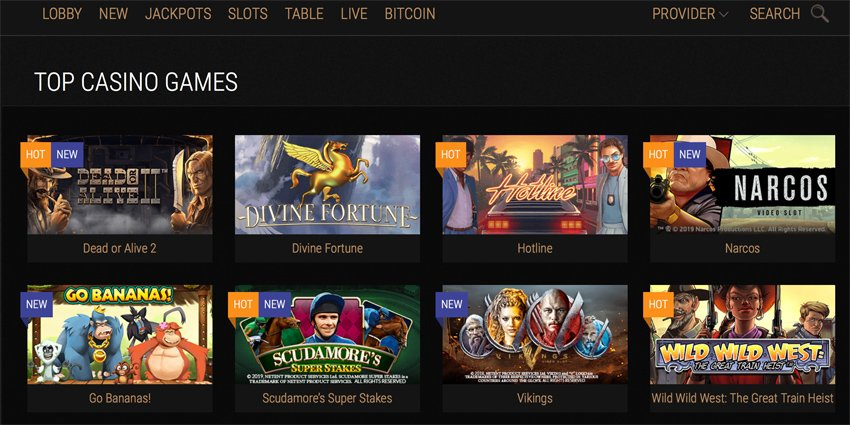 King Billy casino slot games