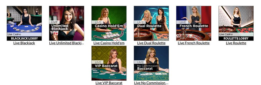 Mansion Casino live games