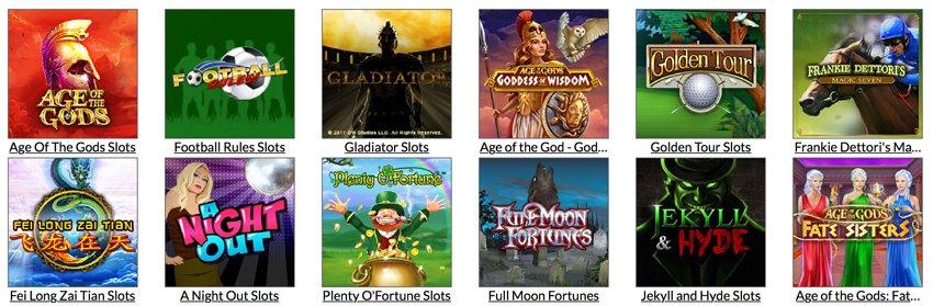 Mansion Casino Playtech games