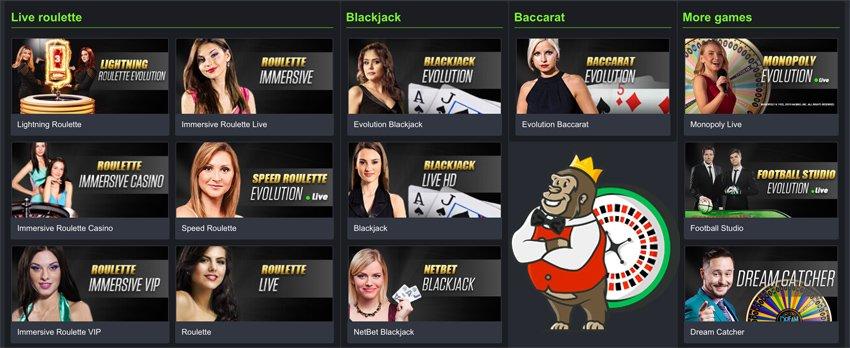 Netbet casino live games
