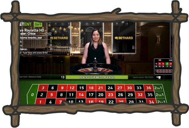 Live-rulettipöytä Bethard -kasinolla