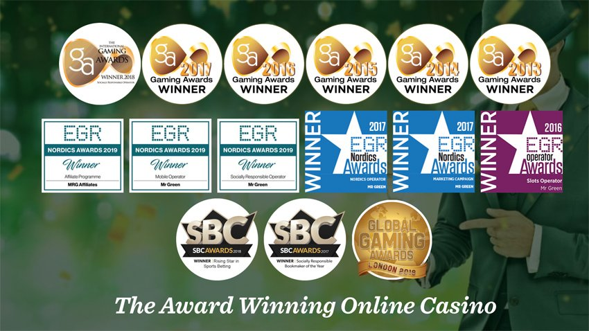 Mr Green Award Winning Casino
