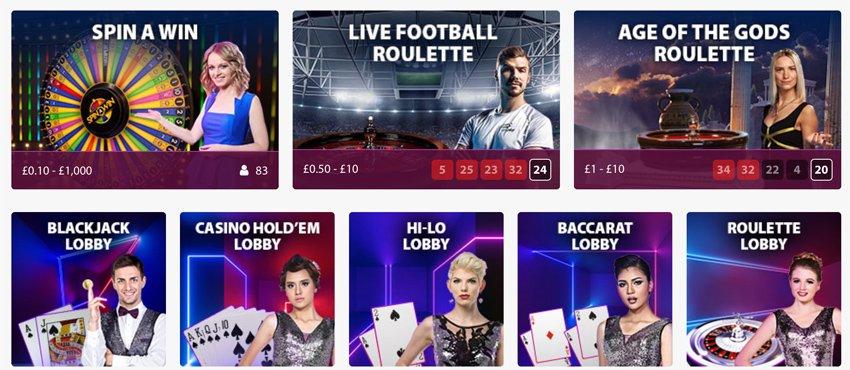 Bgo Casino livegames