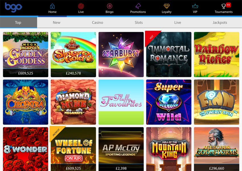 Bgo Casino slot games