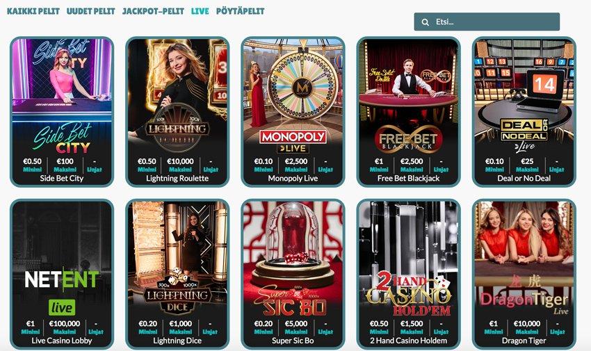 Cashmio live-casino