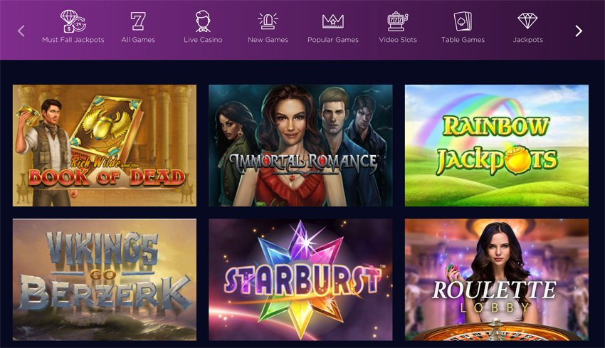 Genesis Casino slot games