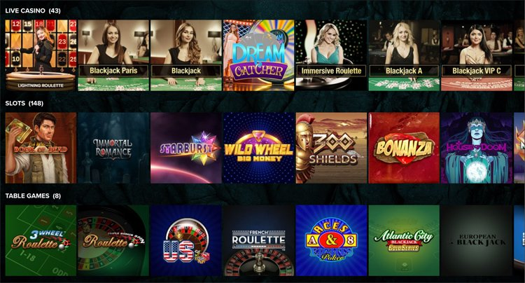 Kaboo casino games