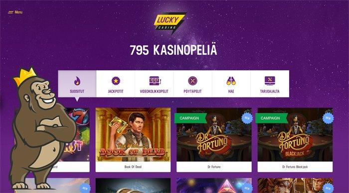 Lucky Casinon peliaulaa ja kategoriat