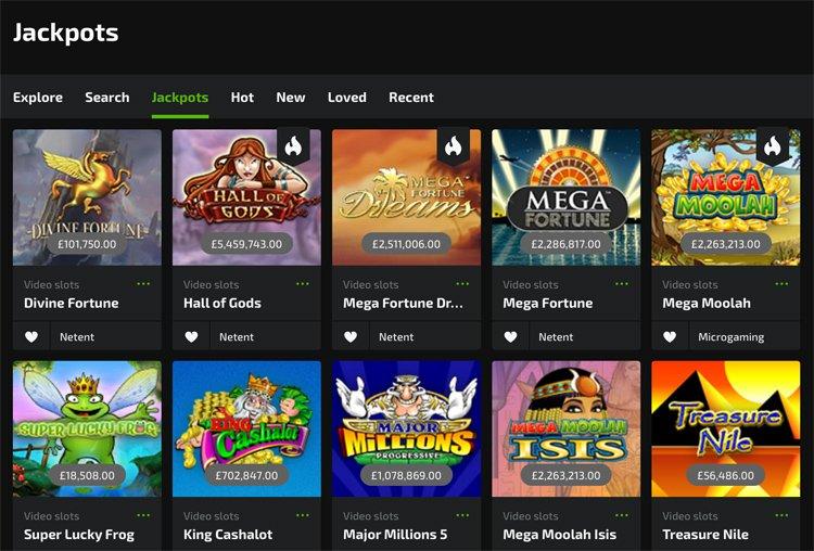 Mobilebet casino jackpot games