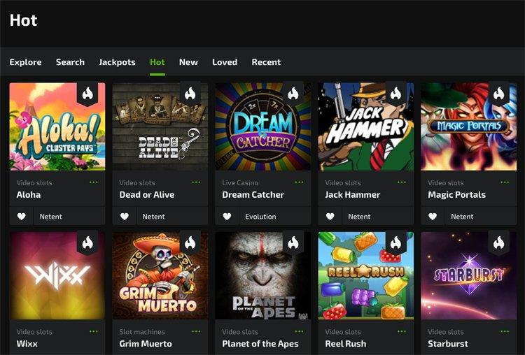 Mobilebet casino slot games