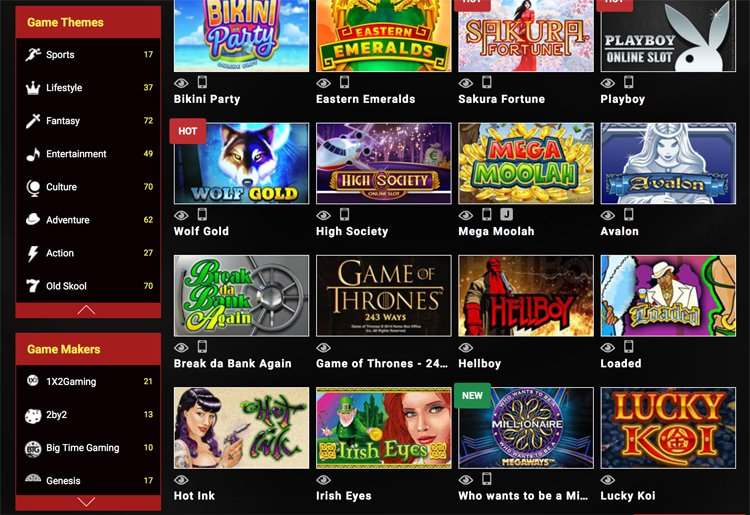 Mongoose casino and game themes