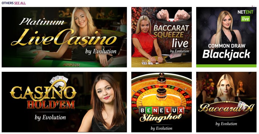 Playojo live casino games