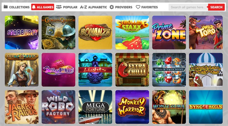 Scandibet slot games and categories