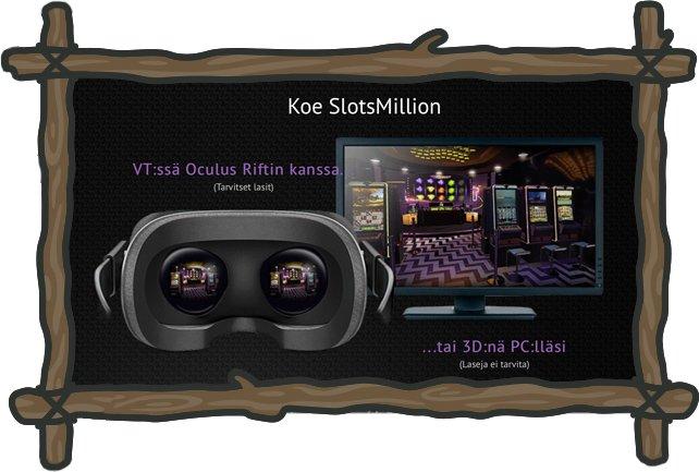 SlotsMillionin virtuaalikasino-