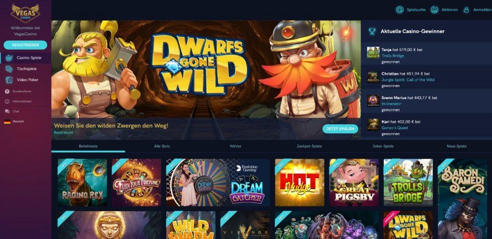 vegas casino jackpot spiele