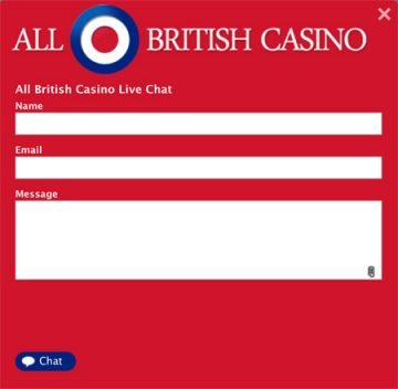 All British Casino customer support and live chat