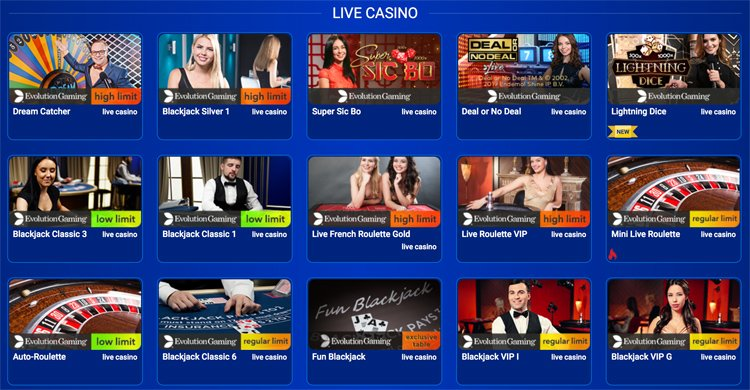 All British Casino live games