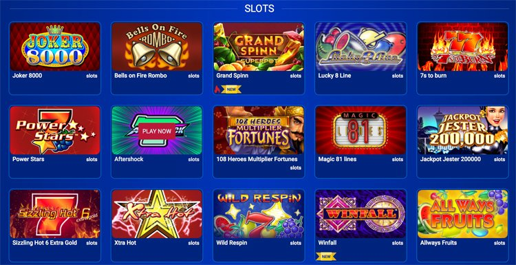 All British Casino slot games