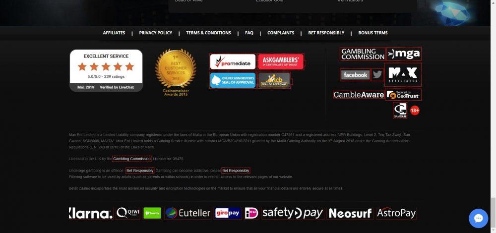 betat casino lizenzen und sicherheit