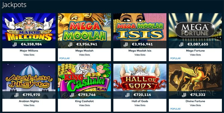Fun Casino jackpot games