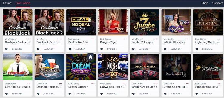 Get Lucky Casino live dealer games