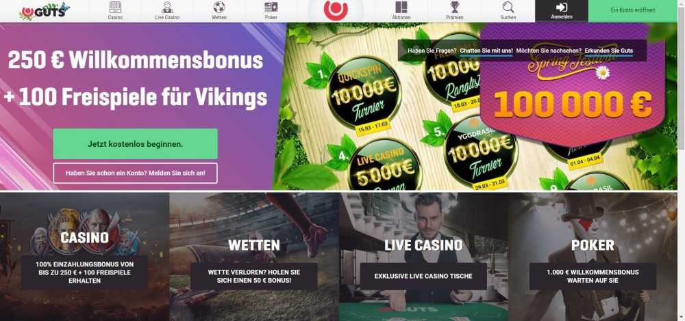 guts casino willkommensbonus
