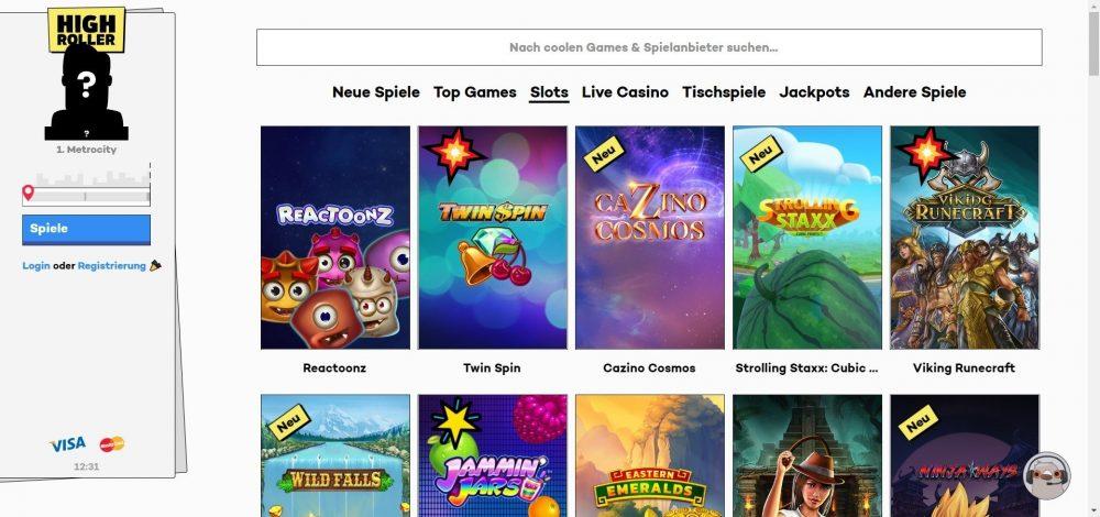 highroller casino slot spiele