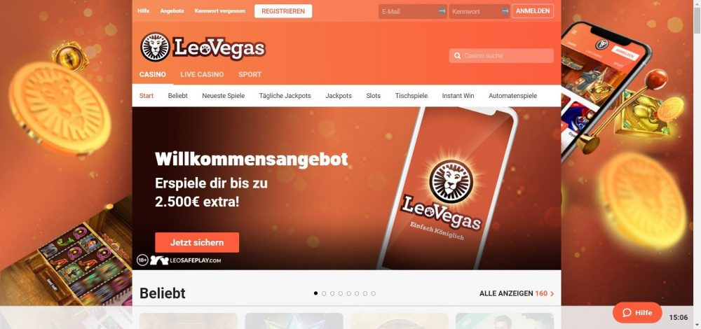 LeoVegas Bonus Code ohne Einzahlung