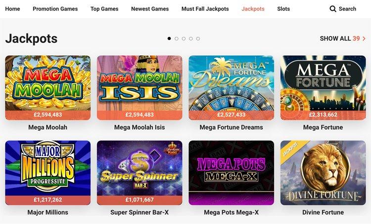 LeoVegas Jackpot Games
