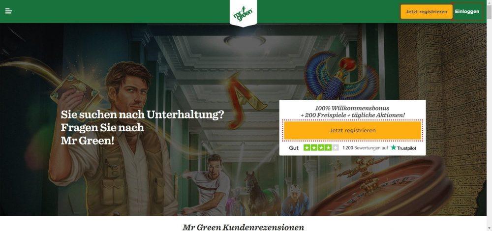 mr green casino willkommensbonus