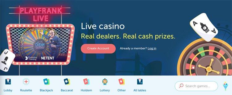 Play Frank live-casino