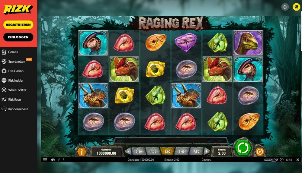 rizk casino erfahrungen raging rex