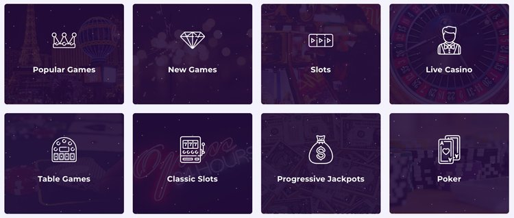Slot Planet casino game categories