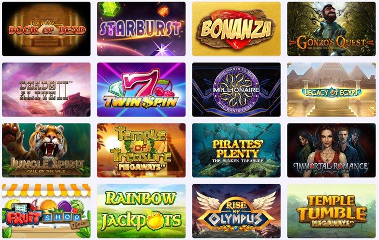 Slot Planet Casino popular games