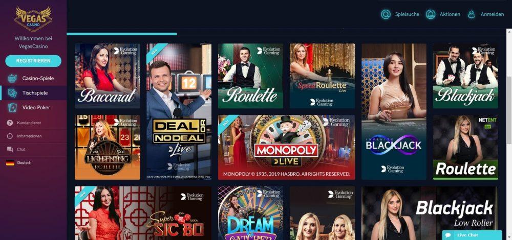 vegas casino live dealer spiele