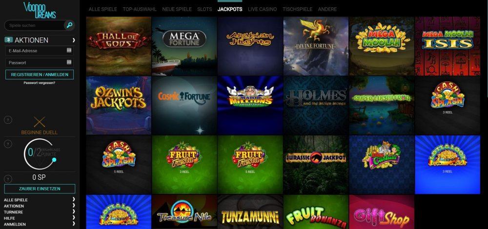 voodoo dreams casino jackpot spiele